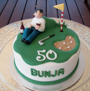 ... th Brithday for my father & Mother  50th-Birthday-Cakes golf design