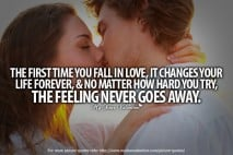 Falling in Love Quotes - The first time you