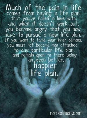 Life plans ...