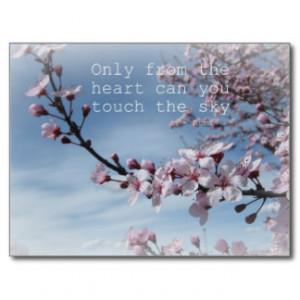 Cherry Blossom Zen Flowering Tree Post Card