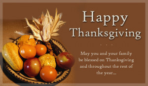 Happy Thanksgiving Wishes, Messages, Sayings, Quotes 2014