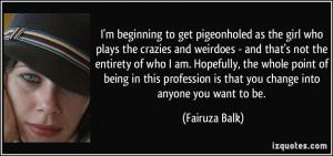 Fairuza Balk Quote