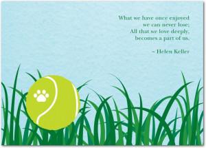 Cherished Dog sympathy card