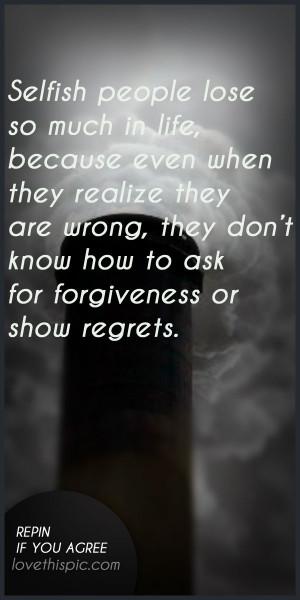 selfish person quotes quotesgram