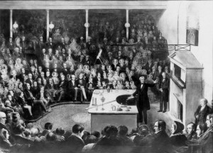 Michael Faraday delivering a Christmas lecture at the Royal ...
