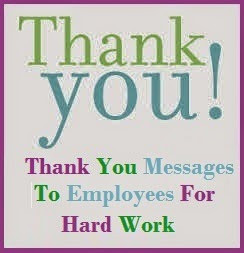 thank you note to the employees builds up the relationship between ...