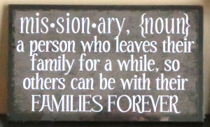 Missionary Definition Wood Plaque, CLICK HERE