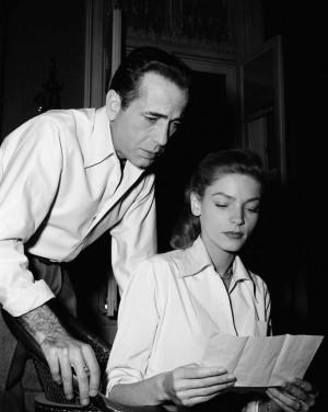 Humphrey Bogart and Lauren Bacall, Warner Bros. stars, study letter on ...