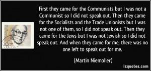 More Martin Niemoller Quotes