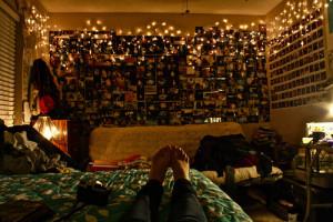bedroom #tumblr bedroom #lights #pretty