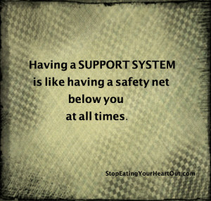 support system, compulsive eating