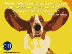 The art of effective listening is essential to clear communication ...