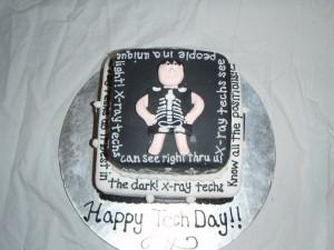 Radiology student graduation cake.