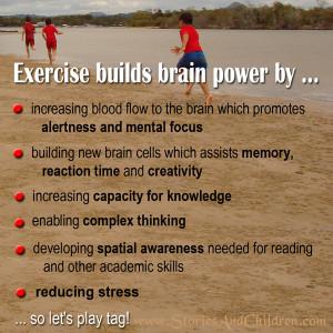 Exercise builds brain power