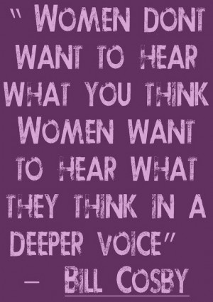 Bill Cosby on what women want. Funny but true.