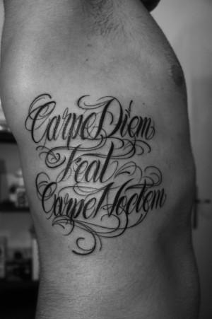 Tattoo Fran Carpe Diem Feat Noctem