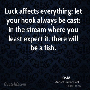 Luck affects everything; let your hook always be cast; in the stream ...
