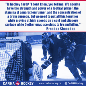 ... of a football player... Inspirational Sport Quotes from CARHA Hockey