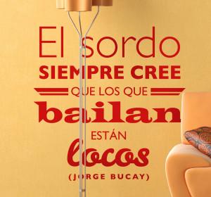 Vinilo decorativo texto Jorge Bucay REF A4156