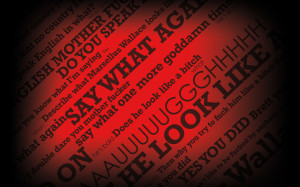 Dirty Words With Black Red Background Gaming HD Wallpaper