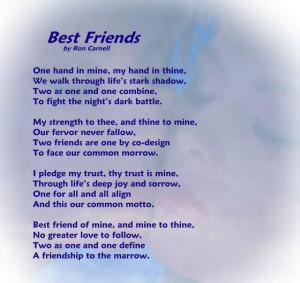 Friendship Poem - Best Friends