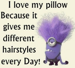 ... because it gives me different hairstyles every day! #minions #quotes