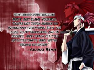 Bleach Quotes Wallpaper Renji abarai quotes by ishi-