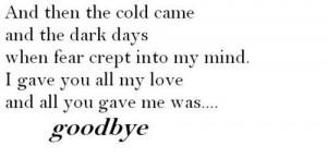 goodbye, hurt, love, quote
