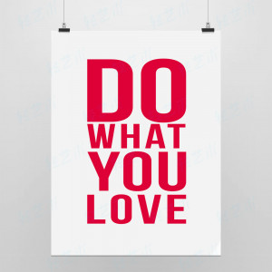 You Love Red Original Minimalist Pop Poster Inspirational Wall Quotes ...