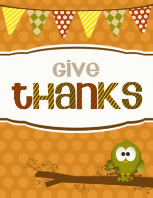 Give Thanks Party Decor Printable from Darling Doodles