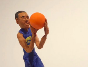 Wow. Not much can be said about this claymation Steph Curry crossover ...