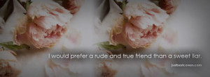 Click to view i prefer rude and true friend facebook cover