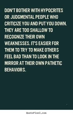 ... others confident people don t go around trying to hurt others they