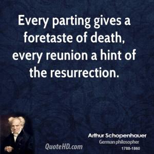 Arthur Schopenhauer Death Quotes