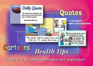 Health Cartoon , Daily Quote , Health Tip