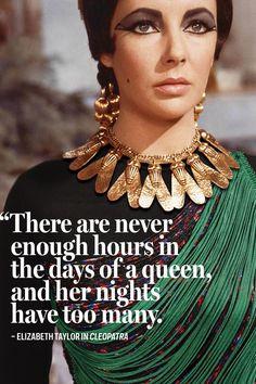 Elizabeth Taylor in Cleopatra, 1963, wearing a top by Stella McCartney ...