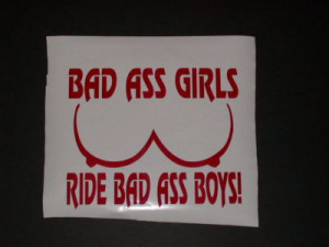 BAD ASS GIRLS Decal