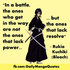 Bleach #Rukia #animequote