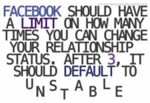facebook #funny #lol #relationship #status #unstable #boyfriends