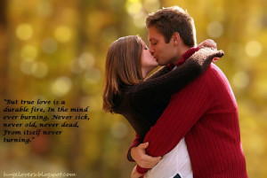 Romantic Couples with quote