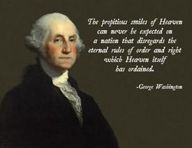George Washington Heaven Poster