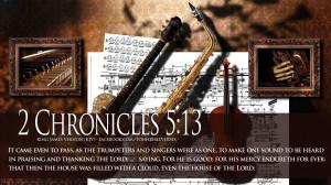 Bible Verses On Praise 2 Chronicles 5:13 Music HD Wallpaper