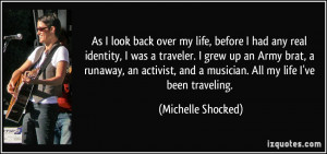 As I look back over my life, before I had any real identity, I was a ...
