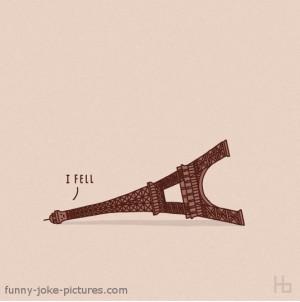 Eiffel Tower Funny Cartoon Picture France Paris