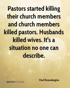 Pastors started killing their church members and church members killed ...