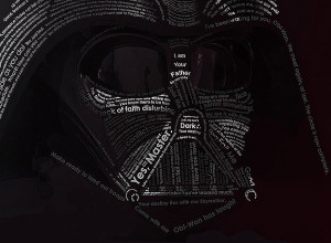 Star Wars Typography: Darth Vader Created With His Quotes