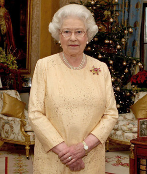 Queen Elizabeth II, announcing that her Christmas Day message will be ...