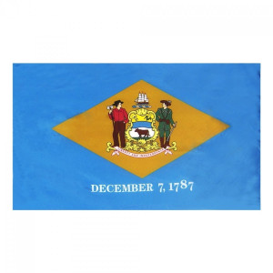Indoor and Parade Colonial Nyl-Glo Delaware Flag-Assorted Sizes