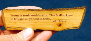 portion of a poem by John Keats that states,