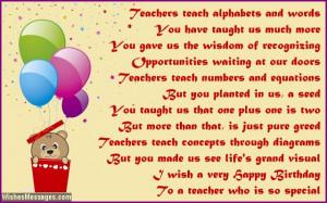 Cute Happy Birthday poem For A